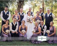 What a beautiful bridal party 💜 congrats to stunning couple @shannin.campbell with their gorgeous Goddess By Nature in the amazing twilight colour. www.goddessbynature.com