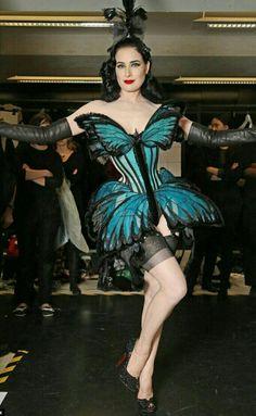 2ac476e0d787 Dita Von Teese John Paul Gaultier  Butterfly Corset Couture  Burlesque  Dress