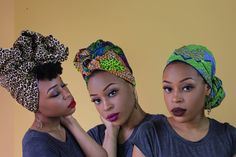 3 Quick & Easy Headwrap Styles   The Wrap Life [I like the second one pictured.]