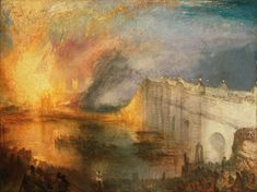 J.M.W. Turner: The Burning of the Houses of Lords and Commons, October 16, 1834, oil on canvas, 36 1/4 x 48 1/2 in. Philadelphia Museum of Art: