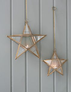 Glass Star Lantern from Rose & Grey