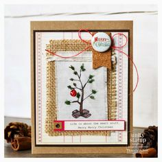 hand stamped christmas cards using stamps by unity stamp co | Unity Stamp Company: Stamp of the Week [Small Christmas Tree]