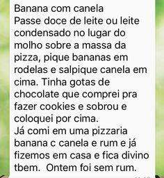 Pizza de banana e canela - Junia (recheio)