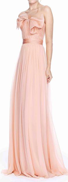 Marchesa Silk Blush Gown