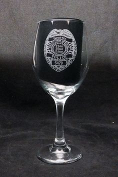 (20 oz) Law Enforcement Wine Glass, Police Badge, Police Officer gift, Law Enforcement gift, Police gift, Police glass. This 20 oz. etched wine glass will make a great gift for your favorite law enforcement officer and make him or her smile! We all have good days, rough days, and days so bad we want to fill our wine glass to the top. Cops certainly do, too. This etched, lead-free & dishwasher safe funny wine glass is exactly the right gift for men and women! Made in the USA , and the text…