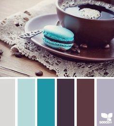 edible tones Color Palette by Design Seeds Colour Pallette, Color Palate, Colour Schemes, Color Combos, Color Patterns, Blue Palette, Pantone, Design Seeds, Sala Chocolate