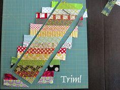 Will make chevron blocks with ocean colored batik strips