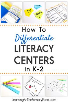 Teach Your Child to Read - Need some easy ways to differentiate your literacy centers? Read this post for ideas for kindergarten, first grade, and second grade! Give Your Child a Head Start, and.Pave the Way for a Bright, Successful Future. Centers First Grade, First Grade Writing, First Grade Activities, First Grade Reading, Kindergarten Centers, Preschool Literacy, Kindergarten Reading, Literacy Activities, Reading Activities