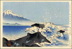 Tokuriki Tomikichiro: The beach of Satta-touge - Japanese Art Open Database