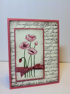 """The Pleasant Poppies stamp was on my """"gotta have it"""" list from the beginning. I have seen several cards made byfellow Stampin' Up demonst..."""
