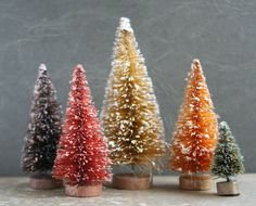 Autumn Forest Bottle Brush Trees for  Decorating  by juliecollings, $14.50