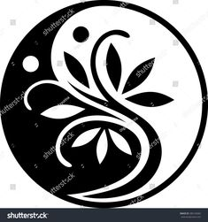 Find Yin Yang Series stock images in HD and millions of other royalty-free stock photos, illustrations and vectors in the Shutterstock collection. Stencils, Stencil Art, Stencil Designs, Arte Yin Yang, Yin Yang Art, Black And White Tree, Free Vector Art, Pyrography, Rock Art