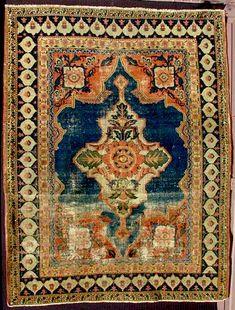Galerie Arabesque/Craycraft Senneh Carpet/Rug Circa 1820 - 1840