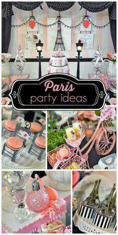lovely pink, black and white Paris themed girl birthday party with macarons and an amazing backdrop! See more party ideas at !A lovely pink, black and white Paris themed girl birthday party with macarons and an amazing backdrop! See more party ideas at ! Paris Party, Paris Birthday Parties, Birthday Party Themes, Girl Birthday, Birthday Ideas, Birthday Backdrop, Decoration Evenementielle, Festa Party, Sweet 16 Parties