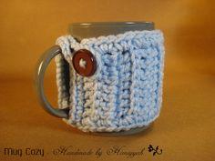 Mug cozy  Mug warmer  Mug Hug  handmade crochet  by HaniyyaBazaar, $5.00