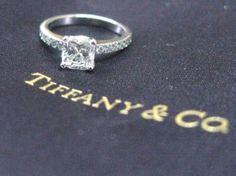 Tiffany & Co. engagement ring. Any princess cut Tiffany ring is my dream ring haha