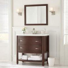 Bathroom ideas on pinterest vanities marbles and home depot for Prescott mirror