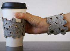 coffee/wrist sleeve, never be without a coffee cozy again @Crystal Garron this is your perfect accessory!