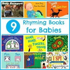 Rhyming Books for Babies - Colton LOVES Hand, Hand, Fingers, Thumb and I read Good Night Moon to him every night :-)
