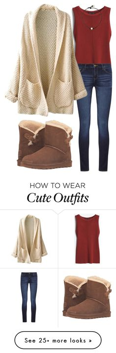 """""""cute outfit for church"""" by alexislynea-13 on Polyvore featuring White House Black Market, DL1961 Premium Denim and Bearpaw"""