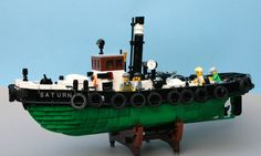 Koffiemoc has faithfully recreated the Saturn, the last serving steam tugboat in Germany.