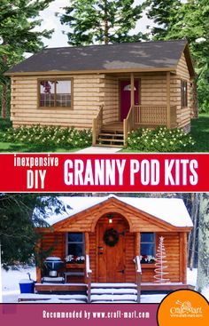 Small Cabin Plans, A Frame House Plans, Small House Floor Plans, Cabin House Plans, Cabin Floor Plans, Tiny House Cabin, Cabin Homes, Tiny Log Cabins, Log Cabin Kits