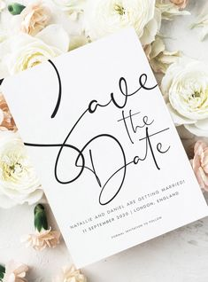 Save the Date cards for modern weddings