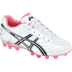 SALE - Asics Lethal GS 4 Soccer Cleats Kids White Leather - Was $49.99 - SAVE $6.00. BUY Now - ONLY $43.99