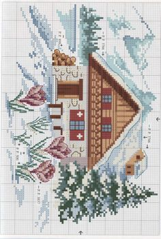 Thrilling Designing Your Own Cross Stitch Embroidery Patterns Ideas. Exhilarating Designing Your Own Cross Stitch Embroidery Patterns Ideas. Cross Stitch House, Xmas Cross Stitch, Cross Stitch Needles, Cross Stitch Borders, Cross Stitch Flowers, Cross Stitch Charts, Cross Stitching, Cross Stitch Embroidery, Funny Cross Stitch Patterns