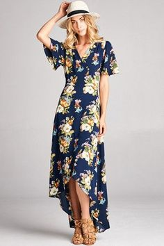 Wilhelmina Floral Wrap Maxi Dress - PRE-ORDER