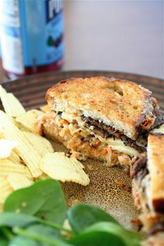 A vegetarian rueban sandwich. This was one of those things that  I never got a chance to try before going veggie, so this recipe is looking enticing. . .