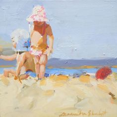 """Red Ball at the Beach"" by Laura Lacambra Shubert at Stellers Gallery"