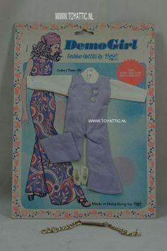 Barbie sized clone fashion Demo Girl by Bogi Designs purple jumpsuit NRFB