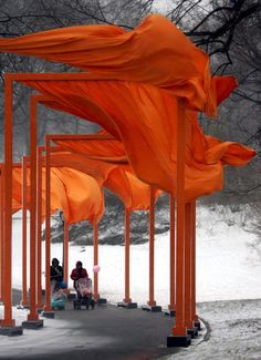 Christo and Jeanne-Claude, The Gates, Central Park, New York City, 1979-2005.