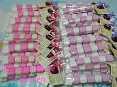 Paquetes con el nombre en jabon. Bautizo Maria. Benidorm. Alicante