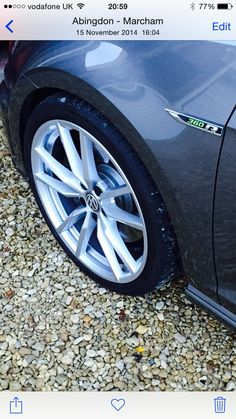 """Pretoria 19"""" wheels painted in Porsche Bright Silver and 10mm spacers all round"""