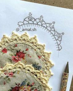 31 Gráficos de Bicos de Crochê para Imprimir Gratuitamente | Revista Artesanato Crochet Doily Patterns, Crochet Motif, Diy Crochet, Crochet Doilies, Filet Crochet, Patches, Knitting, Crafts, Dish Towel Crafts