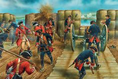 Lieutenant-Colonel Mercer hit by a French cannonball, August 14, 1756