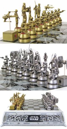 Star Wars Chess Set, For The True Nerd In You<<two of the things my brothers obsessed with. Chess and SW
