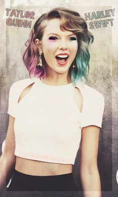 Taylor Swift, Harley Quinn (fan art) made for me  fondo de pantalla!❤