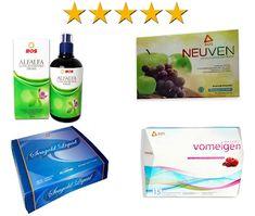 Paket Herbal PT BOS Untuk Program Hamil Neuven, Seagold, Alfalfa dan Vomeigen Herbalism, Dan, Personal Care, Bottle, Herbal Medicine, Self Care, Personal Hygiene, Flask, Jars