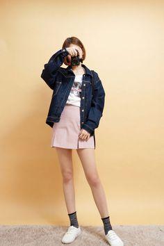 Denim Stitch Jacket | Korean Fashion