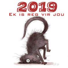 2019 ek is reg vir jou Wisdom Quotes, Qoutes, Goeie More, Afrikaans Quotes, D1, Interesting Stuff, Birthday Wishes, Happy New Year, Monkey