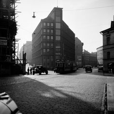 Kuva Helsinki, Finland, Past, Street View, History, City, Travel, Beautiful, Retro