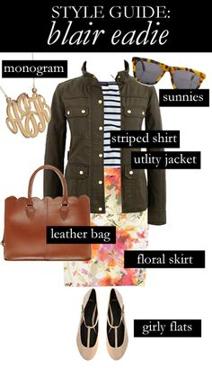 Style Guide: Blair Eadie  I've been lusting for that J.Crew utility jacket...