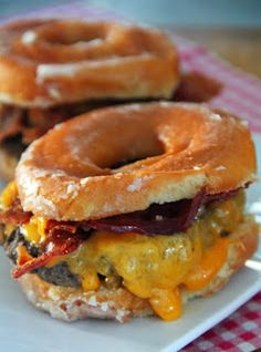 Jo and Sue: Donut Bacon Cheeseburger