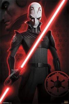 Star Wars Rebels - Inquisitor Poster Print x Star Wars Rpg, Star Wars Rebels, Star Wars Clone Wars, Sw Rebels, Star Wars Pictures, Star Wars Images, Grand Inquisitor Star Wars, Nave Star Wars, Cuadros Star Wars