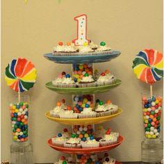Rainbow 1st birthday party
