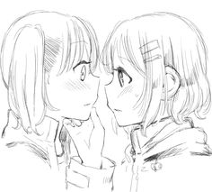 Aoi x Hinata from Yama no Susume. Love that series!
