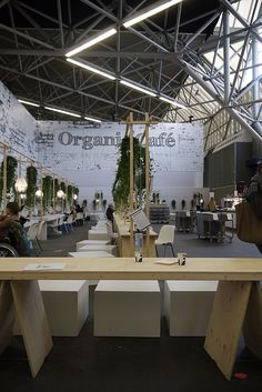 Organic cafe at the woonbeurs 2012